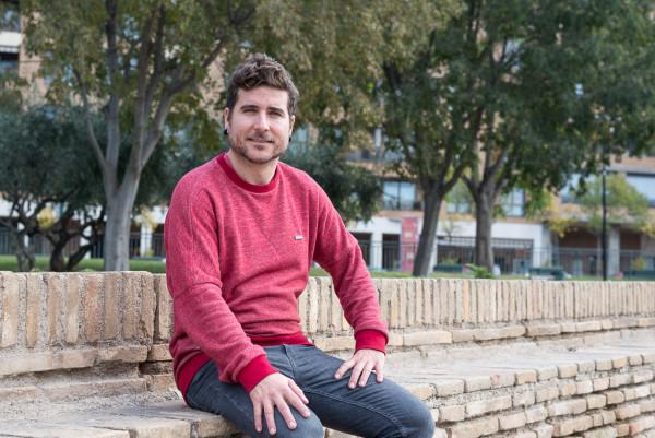 Nacho Escartín, secretario general de Podemos Aragón. Foto: Pablo Ibáñez (AraInfo)