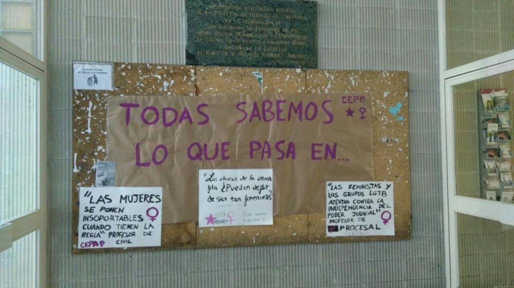 Estudiantes denuncian agresiones machistas por parte de un profesor universitario