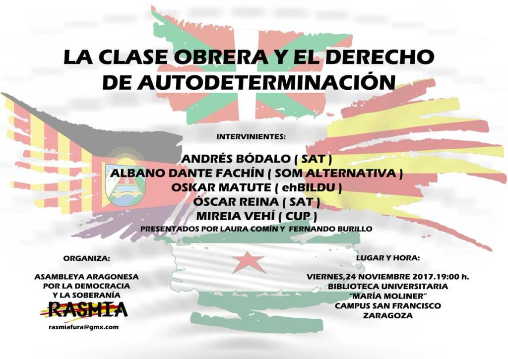 La Asociación Aragonesa por la Democracia y la Soberanía y Purna organizan una charla sobre el derecho de autodeterminación