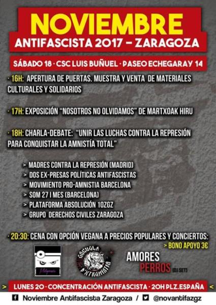Noviembre Antifaixista 2017 cartel