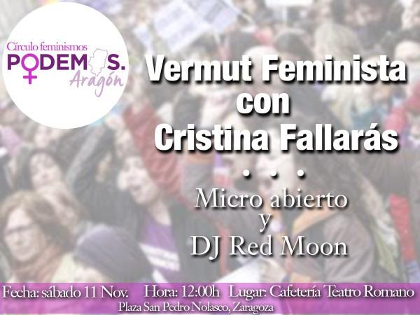 Podemos Aragón Feminismos vermu 11N