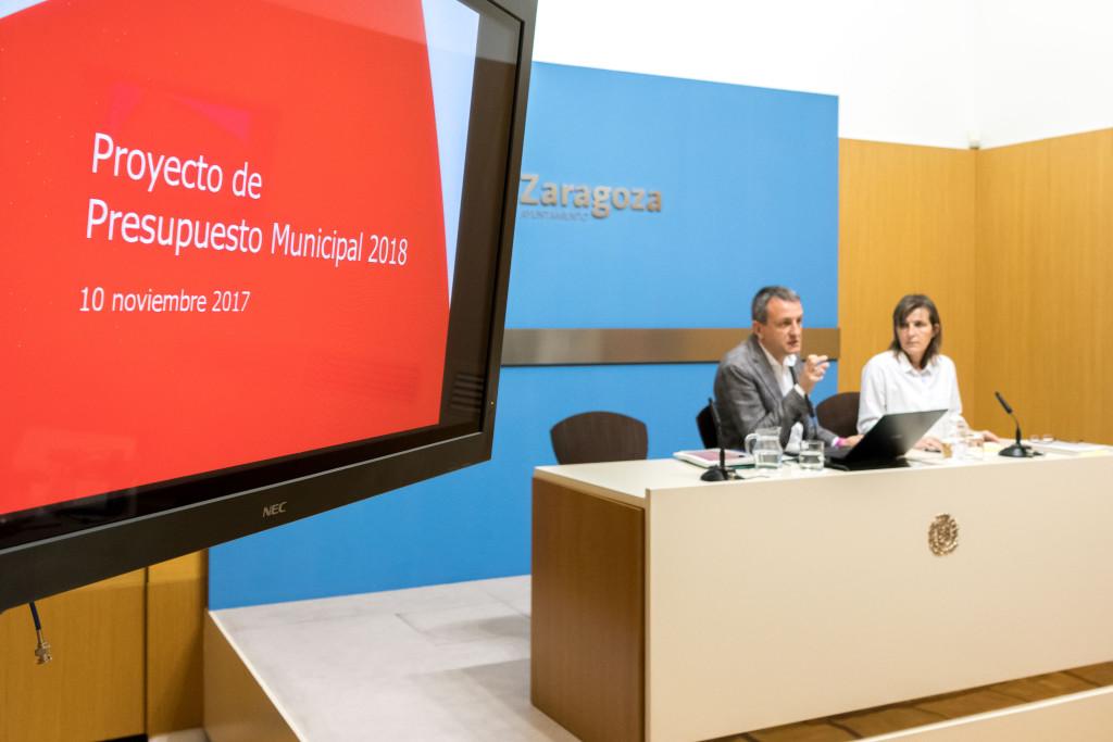 """El proyecto presupuestario para Zaragoza crece un 4% para """"mejorar los servicios públicos y reforzar las políticas sociales"""""""