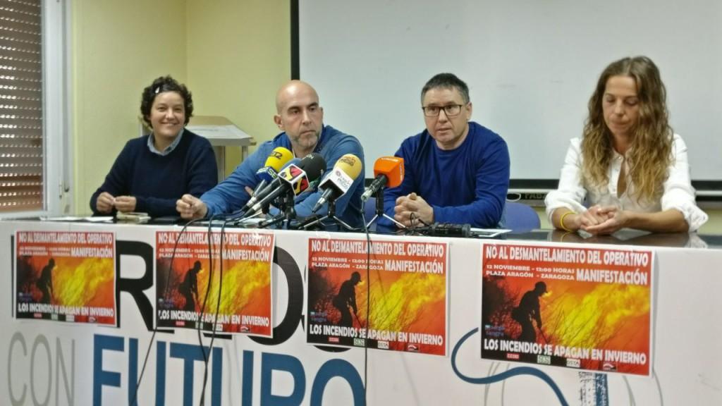 """Sindicatos de la empresa pública Sarga se movilizan por el """"desmantelamiento"""" del Operativo Forestal en Aragón"""