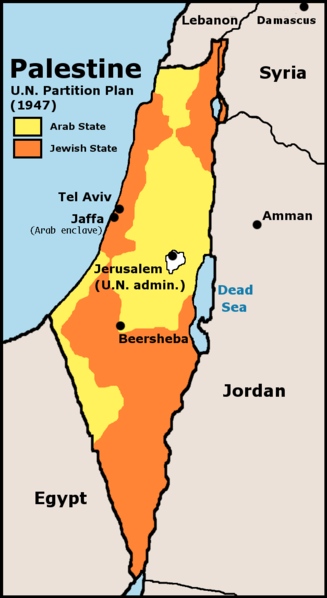 Foto: Plan de Partición de Palestina (1947)
