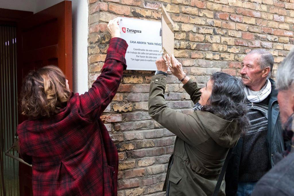 El Albergue de Zaragoza homenajea a Rafa Trívez, trabajador de Casa Abierta