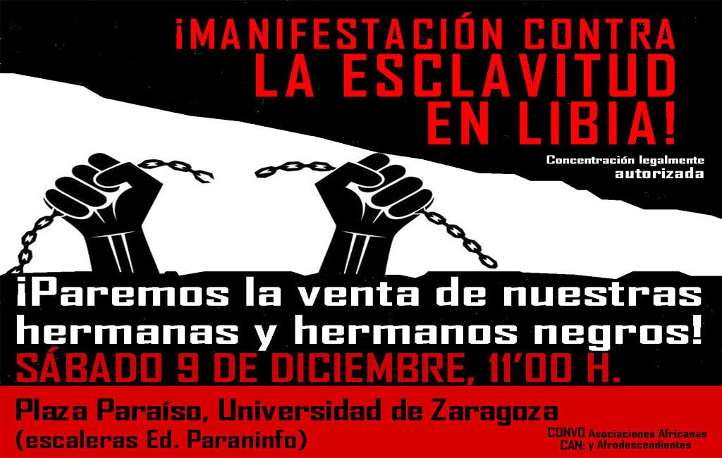 Convocan en Zaragoza una manifestación contra la esclavitud en Libia