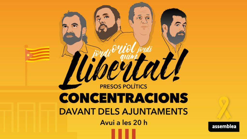 La ANC denuncia la «arbitrariedad de la politizada justicia española» y anuncia que pagará las seis fianzas
