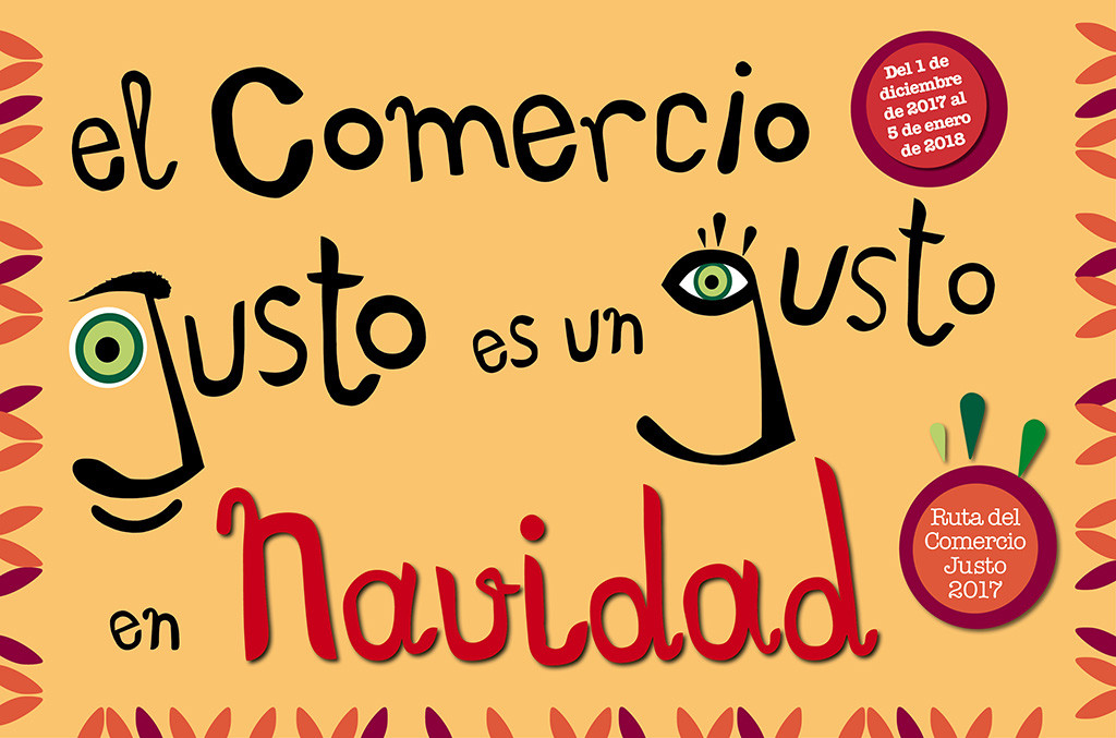 La FAS organiza la 3ª Ruta del Comercio Justo en Zaragoza dentro de la campaña 'Justo en Navidad 2017'