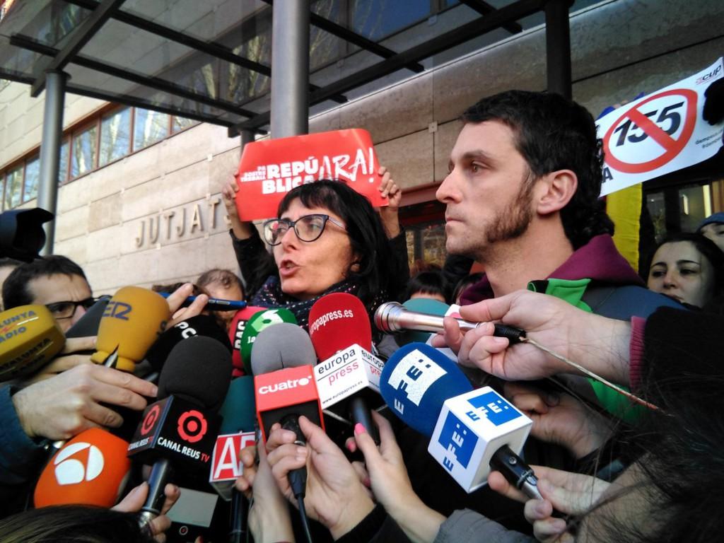 El concejal y la concejala de la CUP de Reus quedan en libertad tras acogerse a su derecho a no declarar