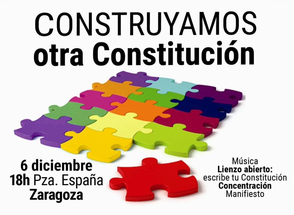 Convocan el 6 de diciembre en Zaragoza una concentración por una nueva Constitución