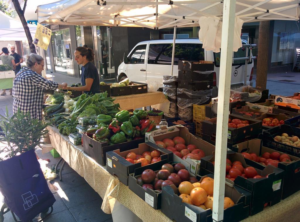 Satisfacción por la nueva periodicidad semanal del mercado agroecológico en Uesca