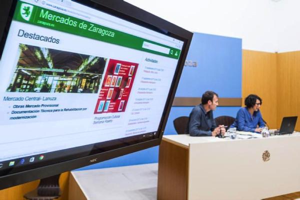 Presentación en el Ayuntamiento de Zaragoza del proyecto de remodelación. Foto: (AZ)