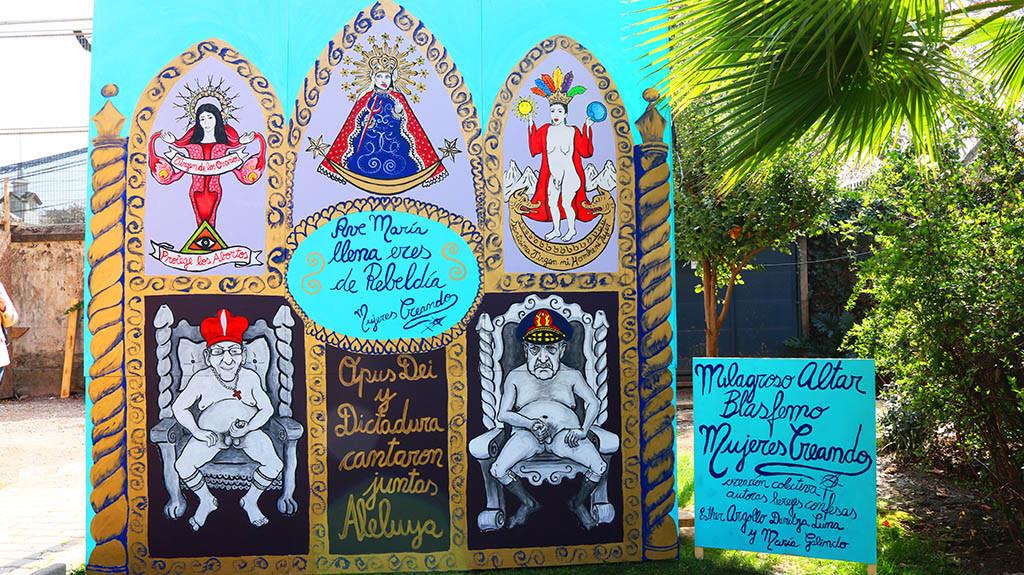 El Milagroso Altar Blasfemo de Santiago de Chile. Foto: Radio Villafrancia