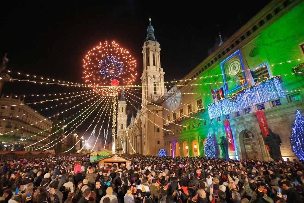 Todo preparado en Zaragoza para la celebración de la Nochevieja