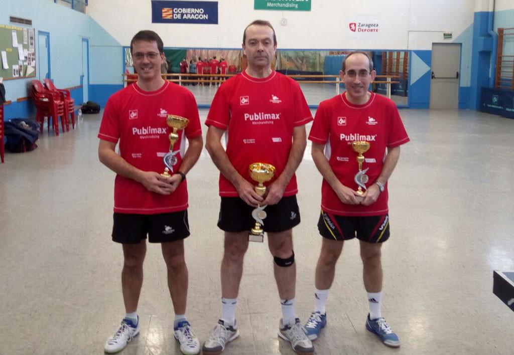 Aragón y Santesteban, campeones de Aragón de veteranos