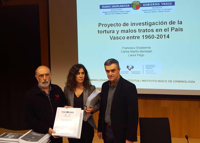 Un informe oficial del Gobierno Vasco constata 4.113 casos de tortura y malos tratos