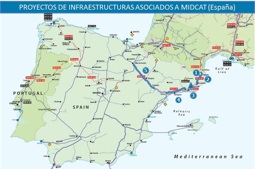 Concentración contra los gaseoductos franceses y españoles en Barcelona