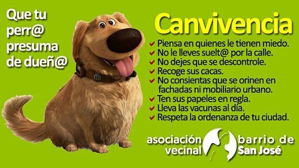Campaña para la convivencia entre los y las dueñas de perros y el vecindario del barrio