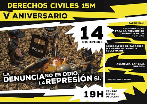 El Grupo de Derechos Civiles Zaragoza celebra su 5º Aniversario