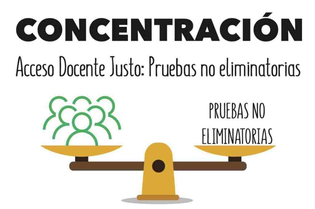 STEA, CCOO y CGT convocan una concentración contra el modelo de oposiciones para docentes