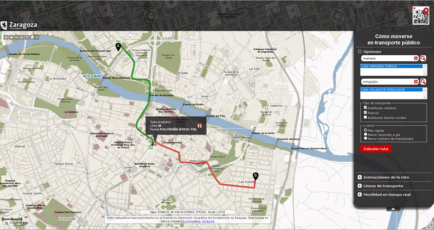 """""""Cómo moverse en transporte público por Zaragoza"""" se actualiza para ser accesible desde cualquier dispositivo"""
