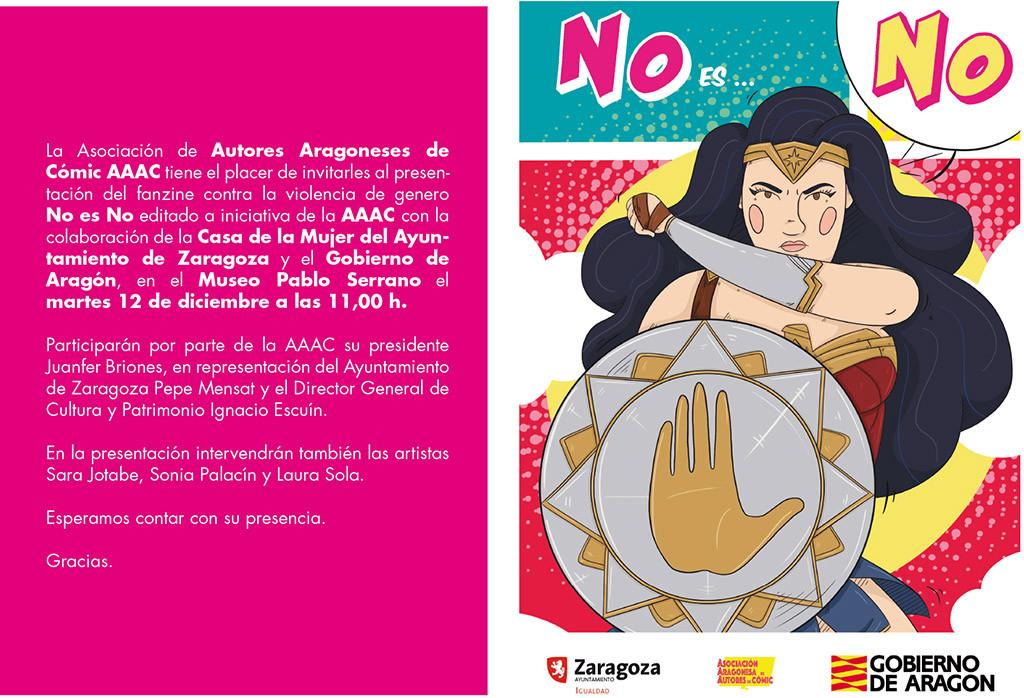 El cómic aragonés alza su voz contra las violencias machistas