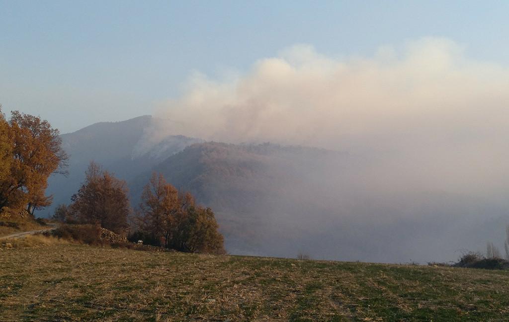 Prealerta roja por riesgo de incendios forestales en buena parte de Aragón