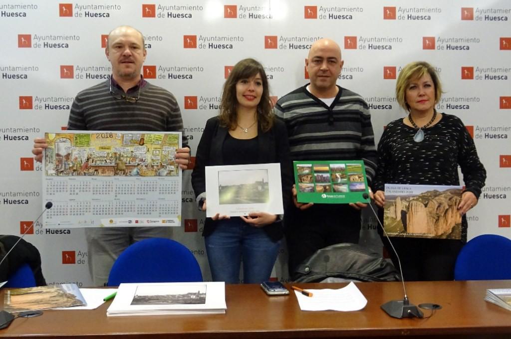 Uesca presenta el calendario en aragonés para el 2018