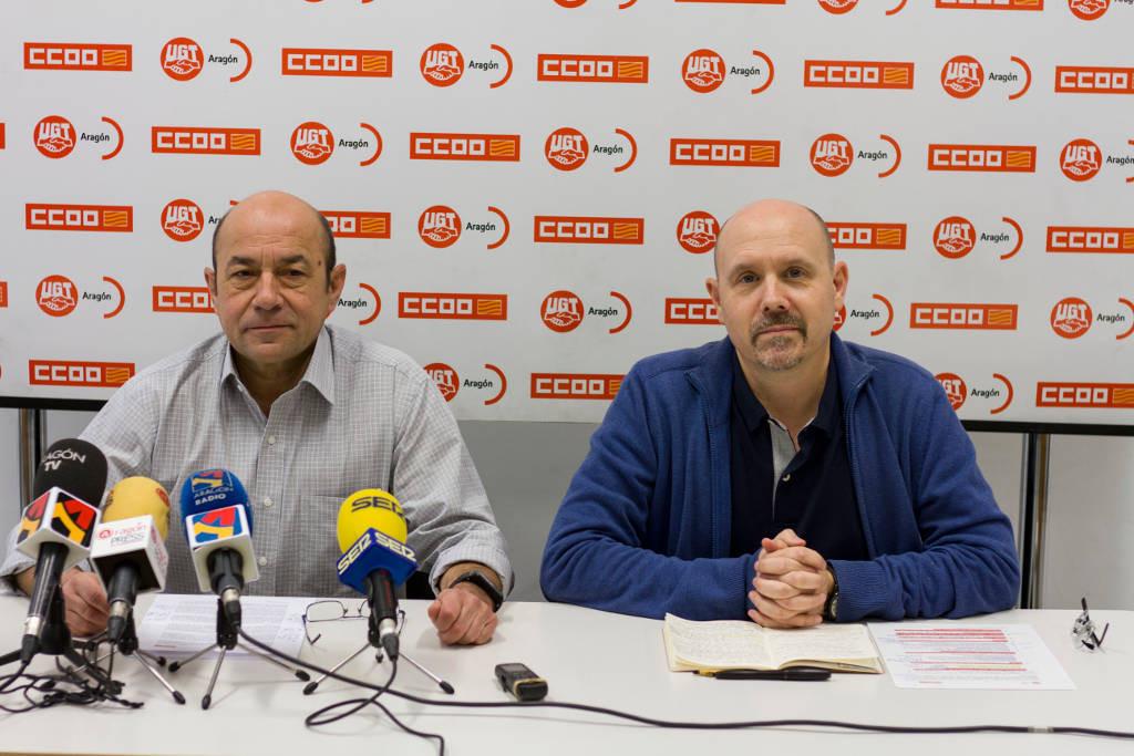 CCOO y UGT Aragón piden al ejecutivo aragonés que recupere la agenda social