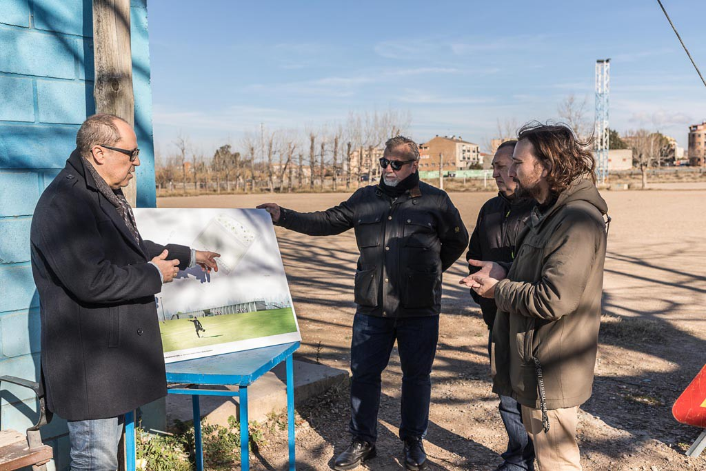 Comienzan las obras para reformar el Campo Municipal de Fútbol de Casetas