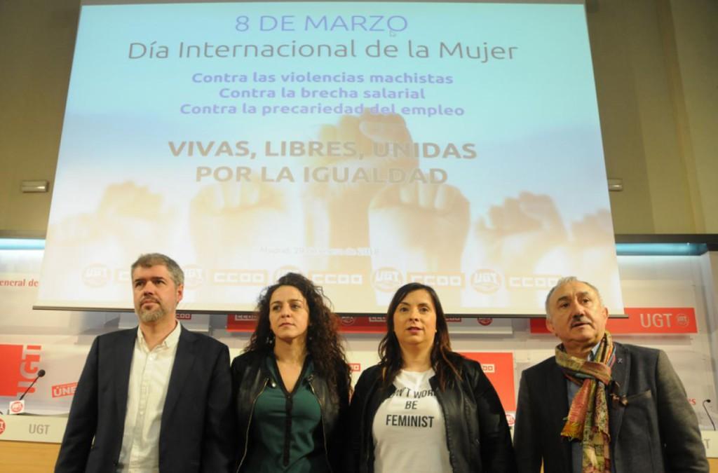 CCOO y UGT convocan un paro de dos horas el 8 de marzo, pero no huelga general