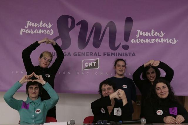 CNT respalda el llamamiento del movimiento feminista y convoca huelga general de 24 horas para el 8 de marzo