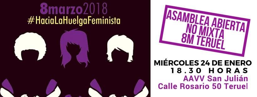 Nace la plataforma Huelga Feminista 8M Teruel
