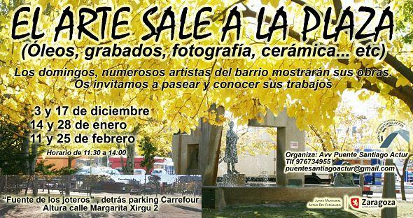 El Arte sale a la plaza con la exposición de artistas plásticos del barrio del Actur de Zaragoza