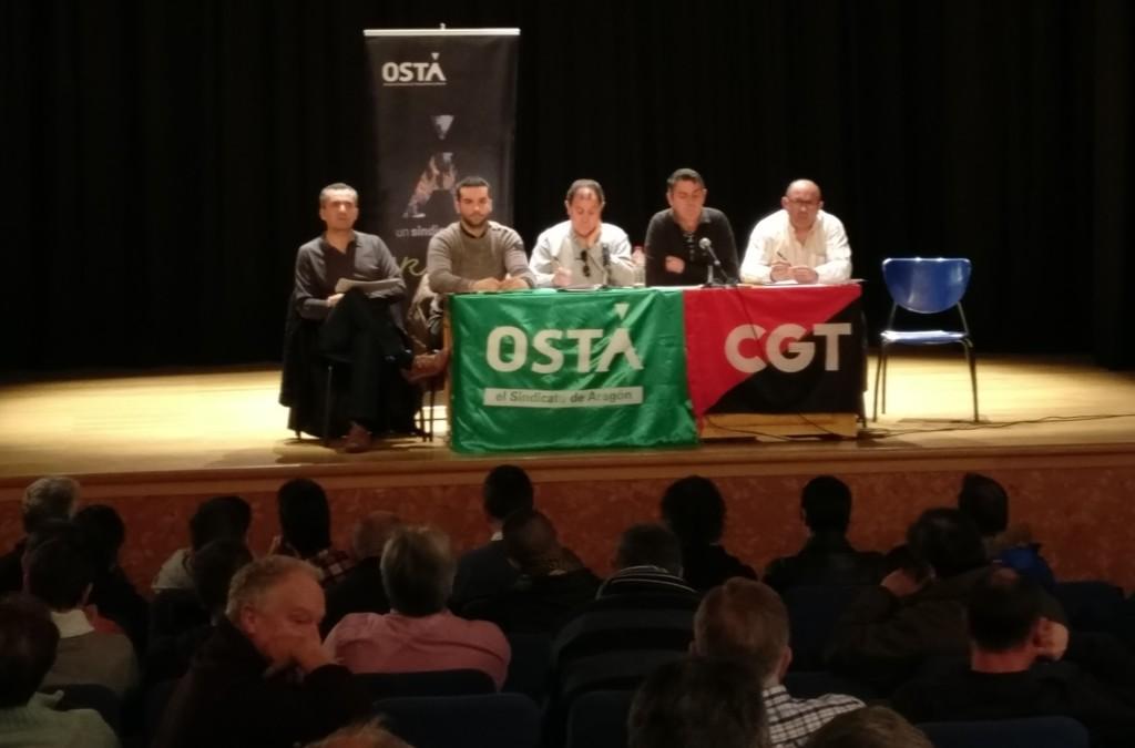 """CGT y OSTA rechazan un preacuerdo que conlleva un """"retroceso"""" en las condiciones laborales"""