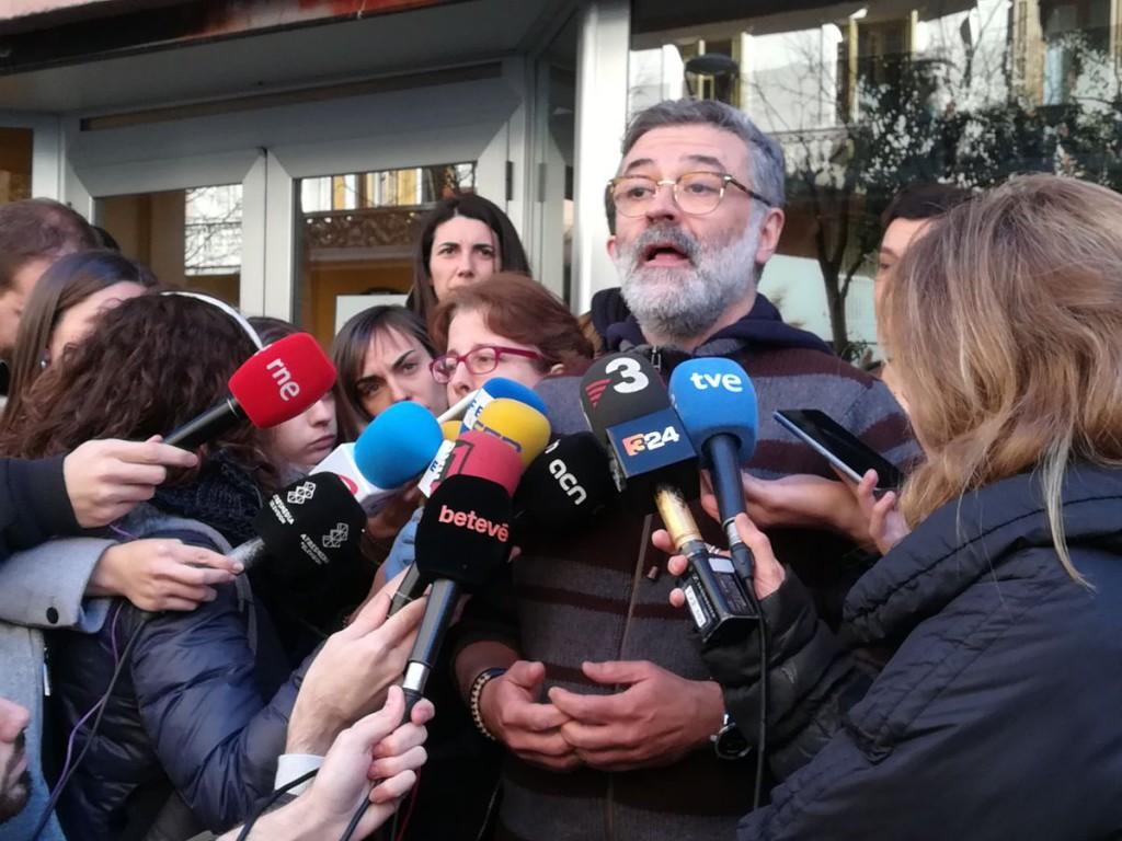 """Carles Riera: """"Avui s'inicia el camí cap al procés judicial que ens jutjarà a totes"""""""