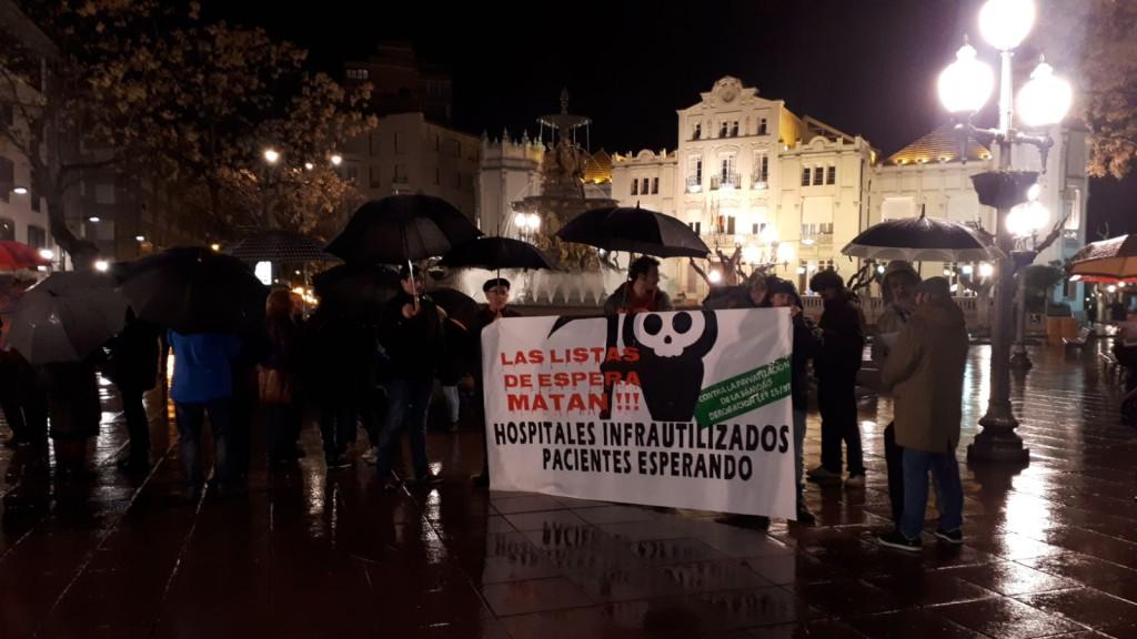 Movilizaciones en Uesca y Zaragoza contra la precarización de la sanidad pública