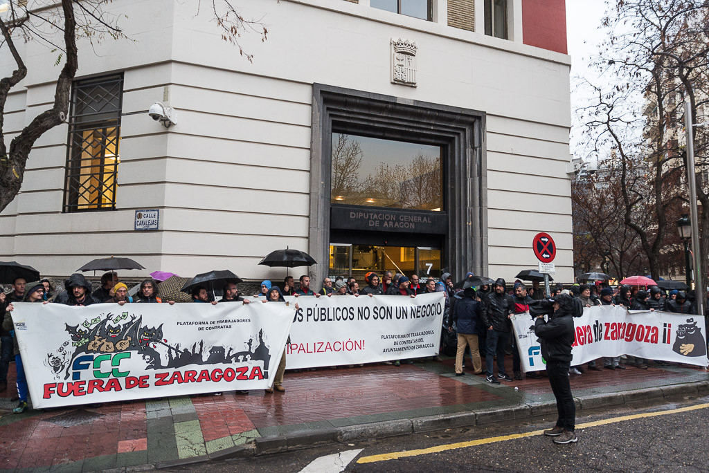 """La plantilla de Parques y Jardines se moviliza para protestar por la """"vergonzosa"""" actitud de la patronal al impugnar las cláusulas sociales"""