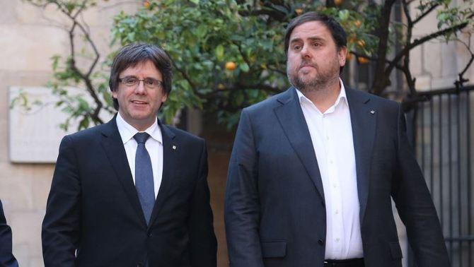 76 eurodiputados acusan a las autoridades españolas de «vunerar los derechos políticos» de Junqueras, Puigdemont y Comín, cuyo veto será analizado por la Justicia europea