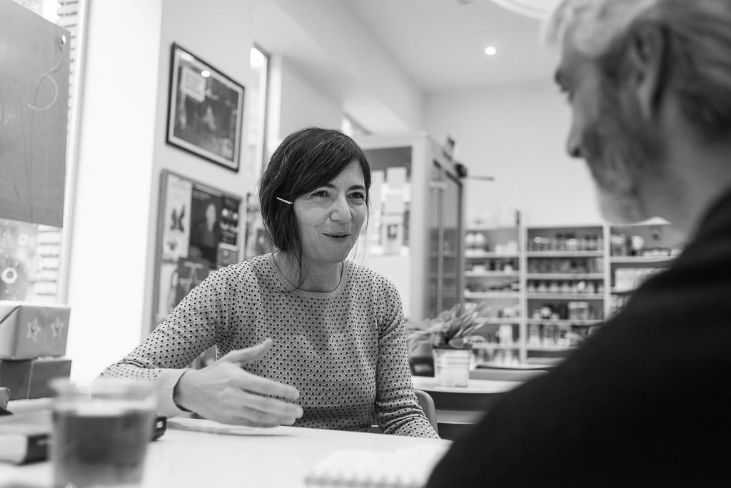 Galé y Félix Rivas durante la entrevista. Foto: Pablo Ibáñez (AraInfo)
