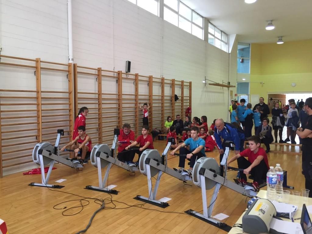 El Capri Club de Mequinensa domina la primera prueba de remoergómetro del año en categorías cadete femenino e infantil