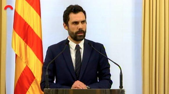 """Torrent: """"El Gobierno español utiliza los tribunales para ganar aquello que no ganaron en las urnas el 21 de diciembre"""""""