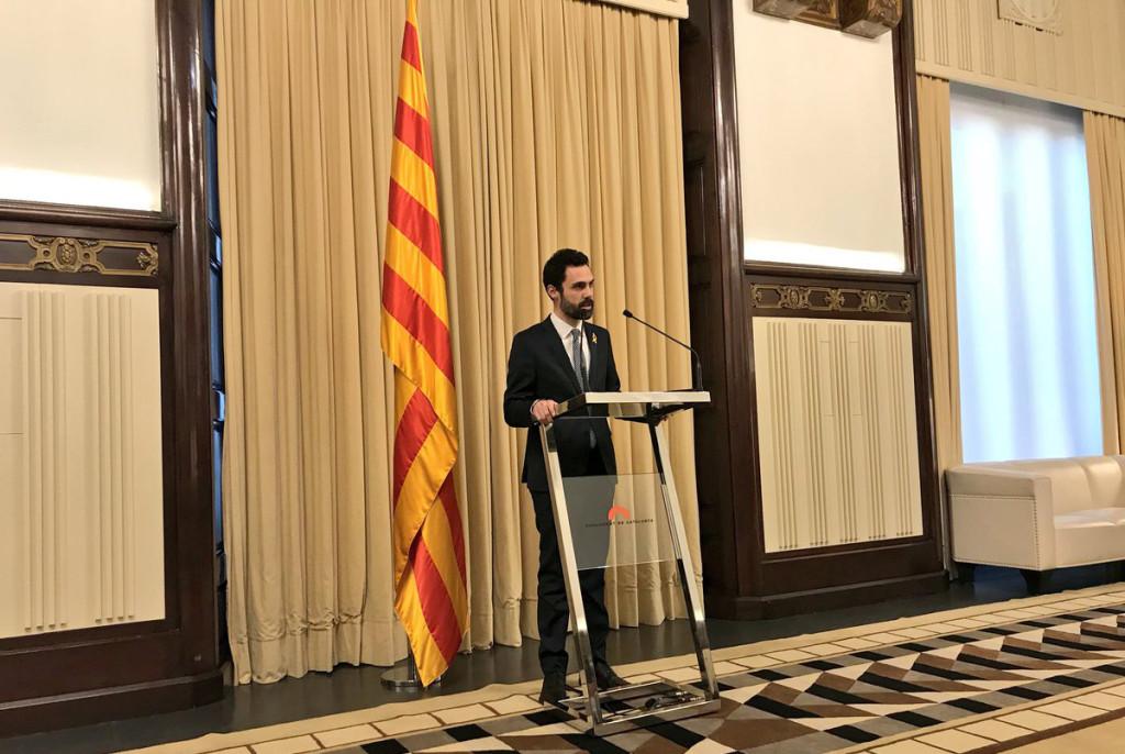 Torrent propone a Puidgdemont como candidato a la presidencia de la Generalitat y solicita una reunión con Rajoy