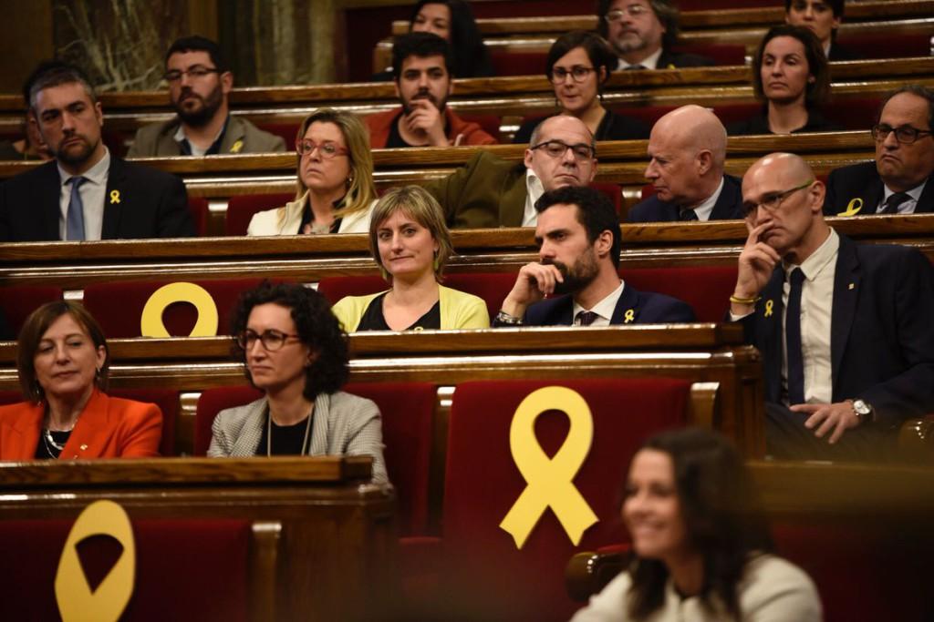 """Torrent visita a los cuatro presos independentistas catalanes: """"Defenderé hasta las últimas consecuencias sus derechos políticos"""""""