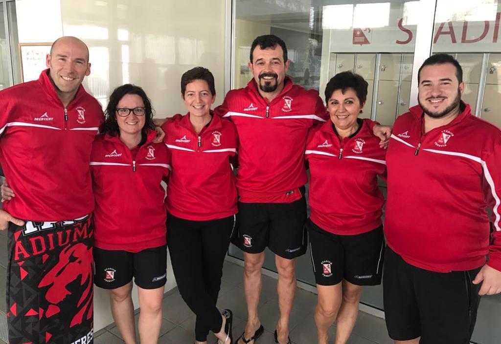Seis nadadores y nadadoras del Stadium Venecia participan en Málaga en Campeonato de Natación estatal de Invierno Máster