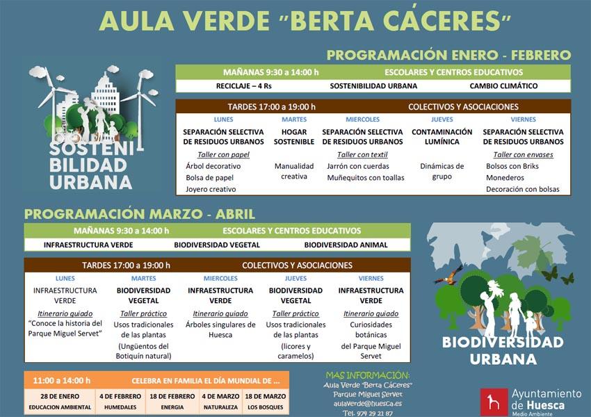 Programación Aula Verde Berta Cáceres.