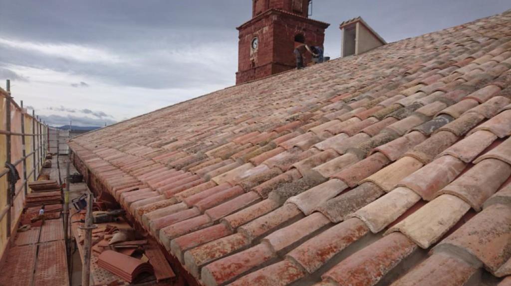 Finalizada la reparación de la cubierta de la Iglesia de Santa Catalina de Ródenas en Teruel
