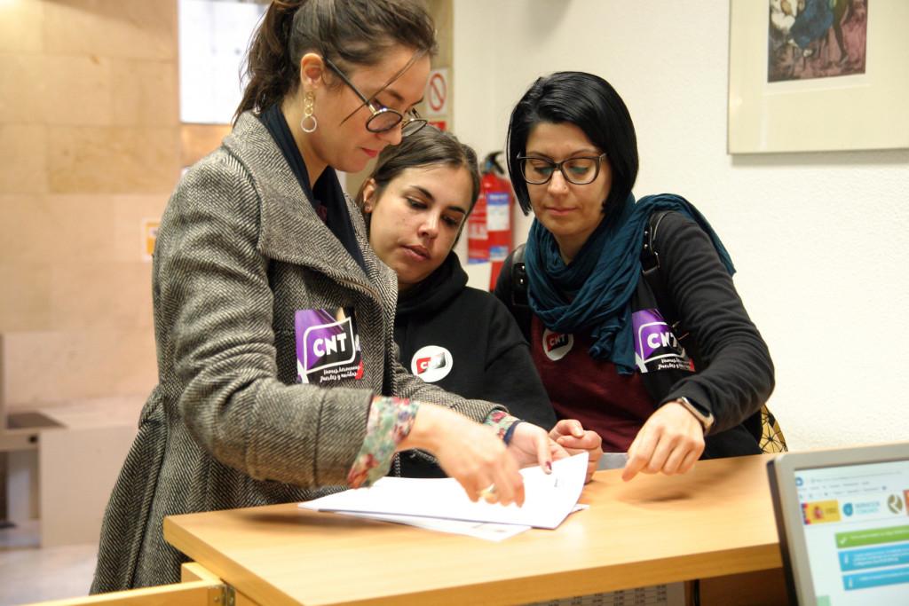 CNT formaliza la convocatoria de huelga general para el 8 de marzo