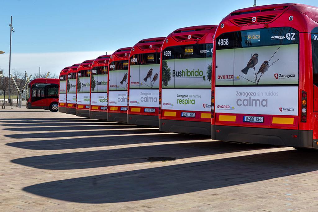 Placas fotovoltaicas para autoconsumo en cocheras del bus urbano y cuatro nuevos aseos al final de línea de Zaragoza