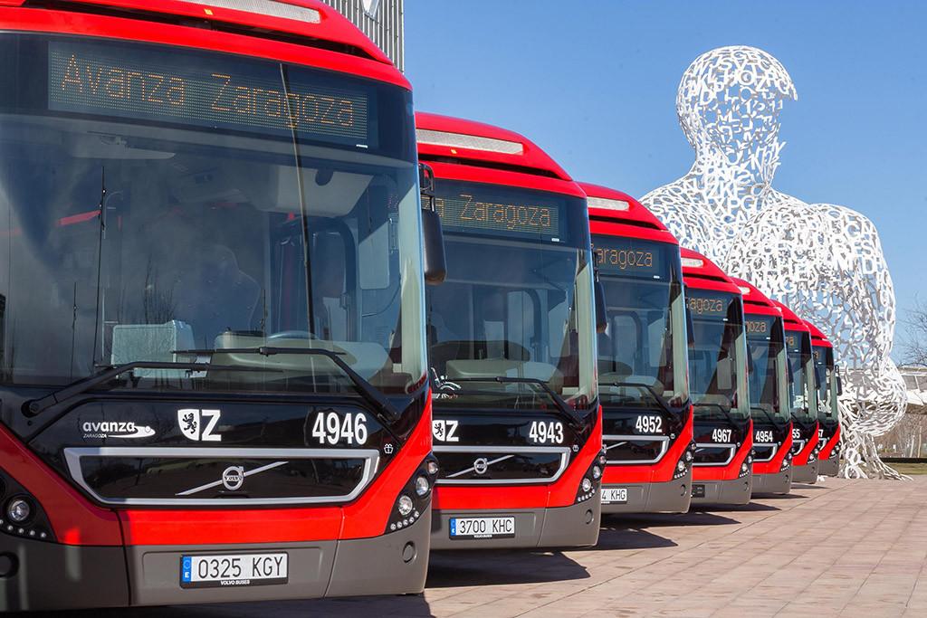 La plantilla de los autobuses urbanos de Zaragoza suspende los paros de esta semana